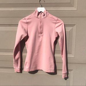 Pink nike fit dry sweater • size small•